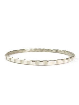 Silver Bangle Bracelet by the Tahe Family