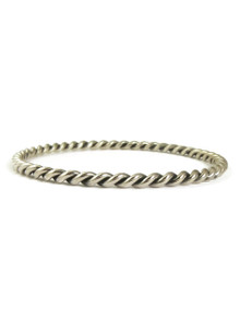 Silver Twist Bangle Bracelet by Elaine Tahe