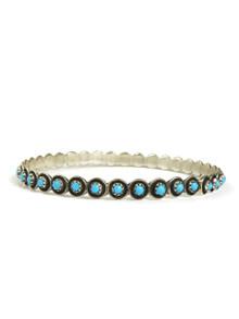 Turquoise Bangle Bracelet Zuni Florinda Lonasee
