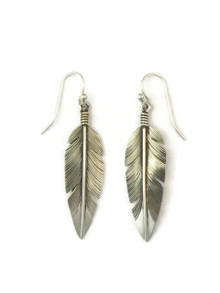 Sterling Silver Feather Earrings by Lena Platero (ER4631)