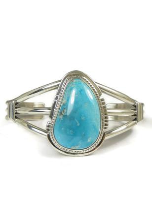 Silver Kingman Turquoise Bracelet by Larson Lee (BR5524)