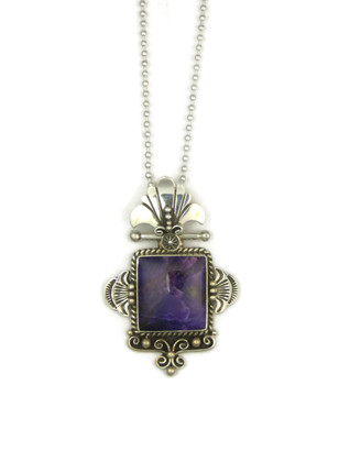 Handmade Silver Sugilite Pendant by Fritson Toledo