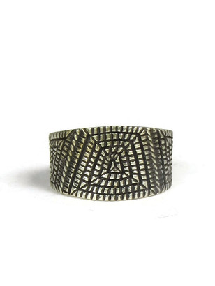 Sterling Silver Maze Ring Size 8 by Elgin Tom