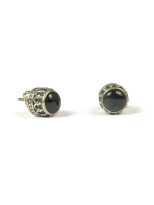 Onyx Gallery Wire Post Earrings