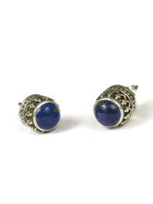 Lapis Gallery Wire Post Earrings