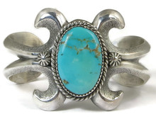 Royston Turquoise Sandcast Bracelet by E.S. Mitchell