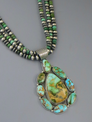Natural Royston Turquoise Cluster Pendant Pendant Necklace by LaRose Ganadonegro