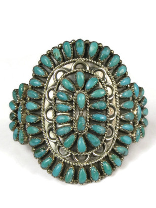 Turquoise Petit Point Cluster Bracelet by Gerald Mitchell (BR5547)