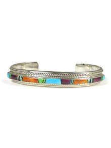 Multi Gemstone Inlay Bracelet by Thomas Francisco (5551