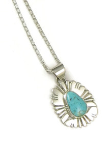 Turquoise Mountain Gem Pendant by John Nelson