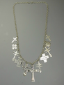 Silver Cross Charm Necklace by Elgin Tom