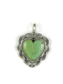 Kingman Turquoise Heart Pendant - Reversible