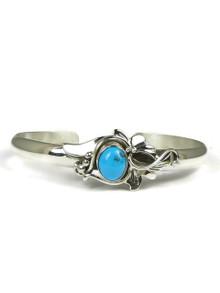 Sleeping Beauty Turquoise Silver Bracelet by Les Baker Jewelry