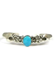 Blue Gem Turquoise Silver Bracelet by Les Baker Jewelry