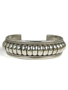 "Sterling Silver Cuff Bracelet 3/4"" by Tom Charley"