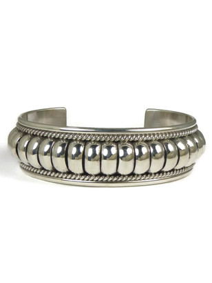 "Sterling Silver Cuff Bracelet 3/4"" by Tom Charley"