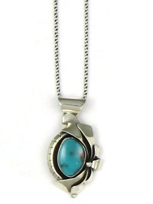 Silver Royston Turquoise Pendant by Les Baker Jewelry