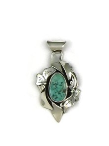 Kingman Turquoiose Pendant by Les Baker Jewelry