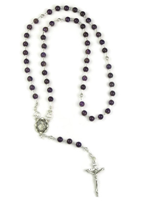 Amethyst Rosary Beads with Detachable Beads