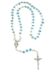 Turquoise Nugget Rosary Beads with Detachable Beads