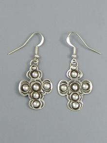 Handmade Silver Cross Earrings