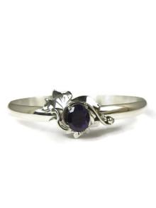 Sterling Silver Amethyst Bracelet by Les Bakery Jewelry