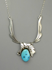 Blue Gem Turquoise Necklace by Les Baker Jewelry