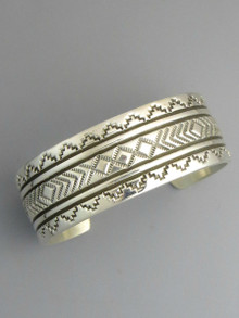 Sterling Silver Hand Stamped Bracelet by Bruce Morgan (BR5580)