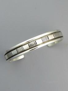 Sterling Silver Bracelet by Native American Artist, Bruce Morgan