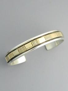 14k Gold & Sterling Silver Bracelet by Bruce Morgan (BR5582)