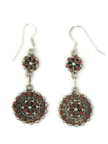 Mediterranean Coral Petit Point Cluster Dangle Earrings by Zuni, Tricia Leekity