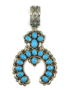 Sleeping Beauty Turquoise Naja Pendant by DeAnna Nez