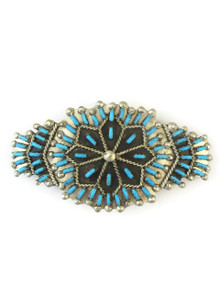 Turquoise Needle Point Hair Barrette by Zuni Artist, Keith Leekity
