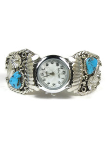 Turquoise Watch Cuff Bracelet - Large