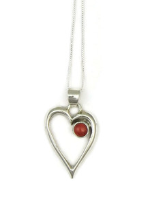 Coral Open Heart Pendant