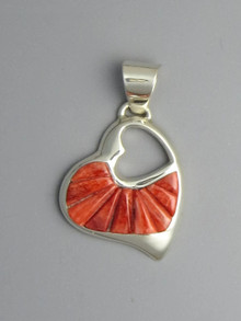 Spiny Oyster Shell Sculpted Inlay Pendant by Rick Tobias