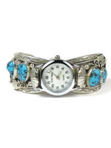 Turquoise Watch Cuff Bracelet by Freddie James