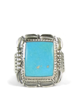 Royston Turquoise Ring Size 13 1/4 by Bennie Ration