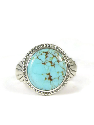 Number 8 Turquoise Ring Size 11 by Wilson Padilla