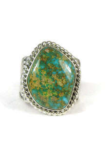 Two Tone Kingman Turquoise Ring Size 11 by Joe Piaso, Jr.