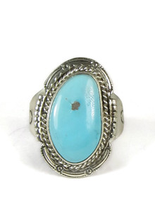 Castle Dome Turquoise Ring Size 12 1/2 by Timothy Guerro
