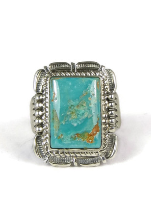 Kingman Turquoise Ring Size 12 by Benny Ration