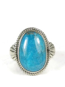 Pilot Mountain Turquoise Ring Size 10 1/2 by Wilson Padilla