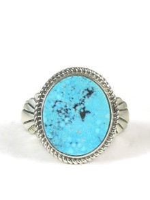 Kingman Turquoise Ring Size 12 by Wilson Padilla
