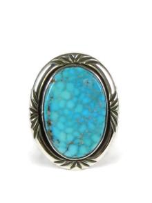 Webbed Kingman Turquoise Ring Size 11 by Fritson Toledo