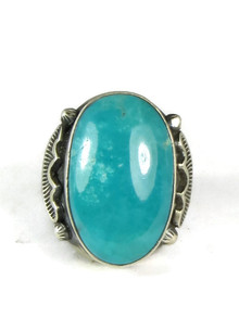 Kingman Turquoise Ring Size 10 1/2