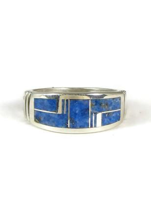 Denim Lapis Inlay Ring Size 11 1/4
