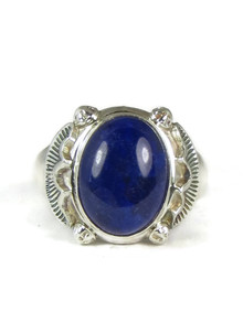 Sterling Silver Lapis Ring Size 12 1/4