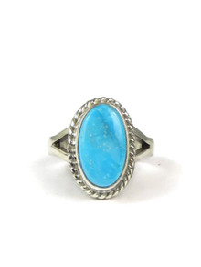 Turquoise Mountain Gem Ring Size 5 by Delores Toledo