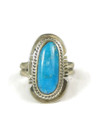 Castle Dome Turquoise Ring Size 6 by Larson Lee